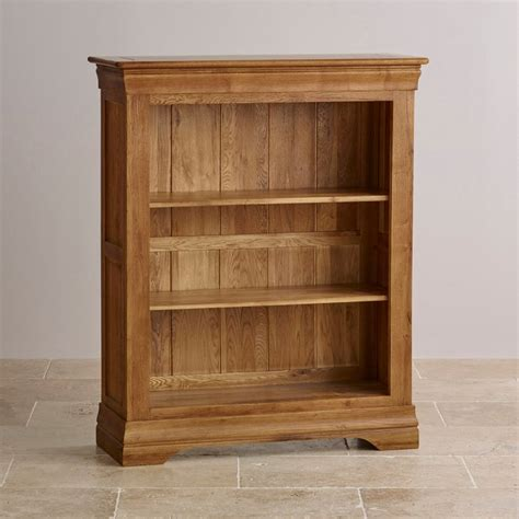 french farmhouse solid rustic oak small bookcase