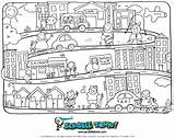 Coloring Town Scribble Crayon Early Colorir Ourtown Andi Thea sketch template