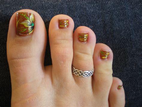 22+ Fall Toe Nail Art Designs, Ideas