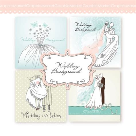 wedding digital clip art card iii print invitations