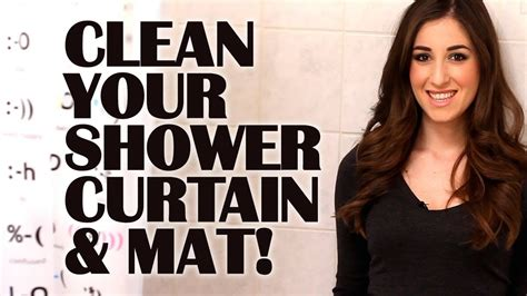 how to clean your mat how to clean your shower curtain mat easy bathroom c