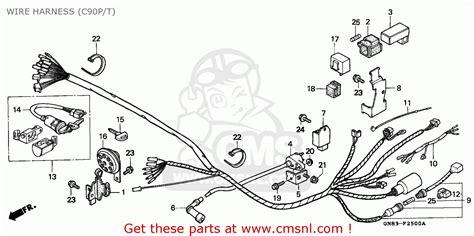 honda c90 cub 1992 n england wire harness c90p t schematic partsfiche