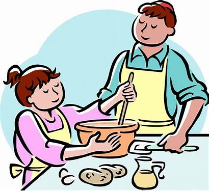 Cooking Clipart Clip Mother Kitchen Preparing Meal