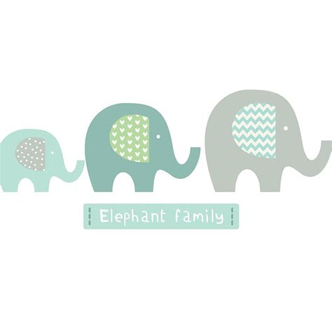 stickers elephant chambre bébé elephant family fabric wall stickers by littleprints