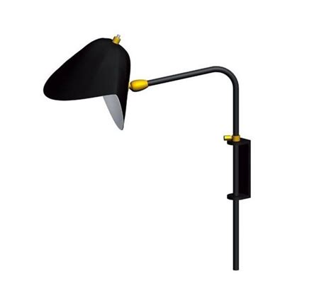 wall light antony switch shade black h41 5cm serge