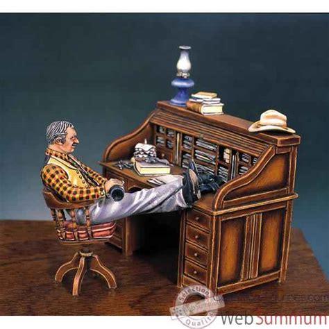 bureau a peindre figurine kit à peindre le bureau du shérif en 1880 s4