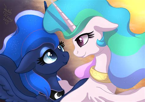 My Little Pony Luna And Celestia Kiss