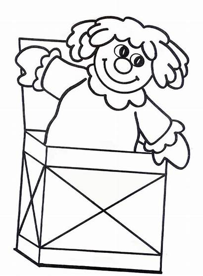Box Coloring Jack Doll Pages Template Empty