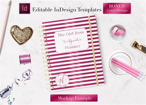 monthly planner indesign template stationery templates