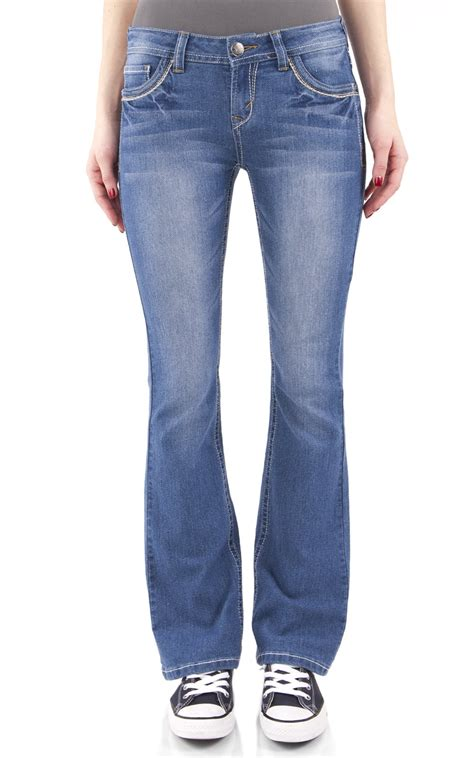 jeans wallflower bootcut denim stretch juniors classic legendary womens