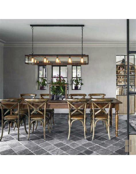 rustic pendant light  chain dining room cm long