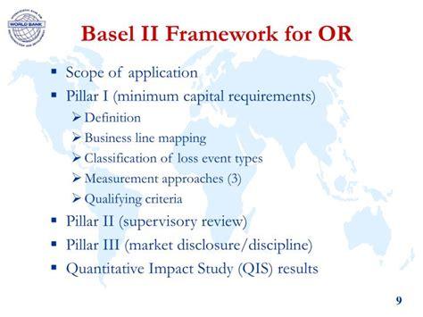 basel ii risk framework operational bank stephanou constantinos managing measuring management under types capital requirements pillar event workshop ppt powerpoint