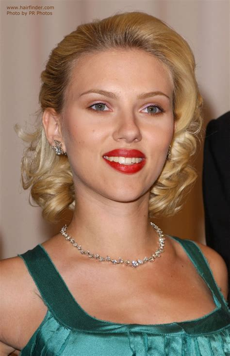 Pics Of Hairstyles by Johansson Sporting A Retro Glam Hairstyle And How
