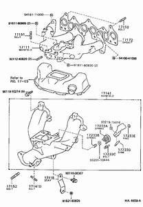 1986 Toyota Corolla Gasket  Intake Manifold  No  2