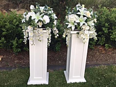 Column Square Aisle Decorations Wedding Pillars