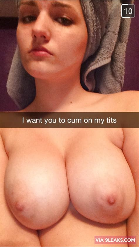 i want you to cum on my tits from sexting s snapchat
