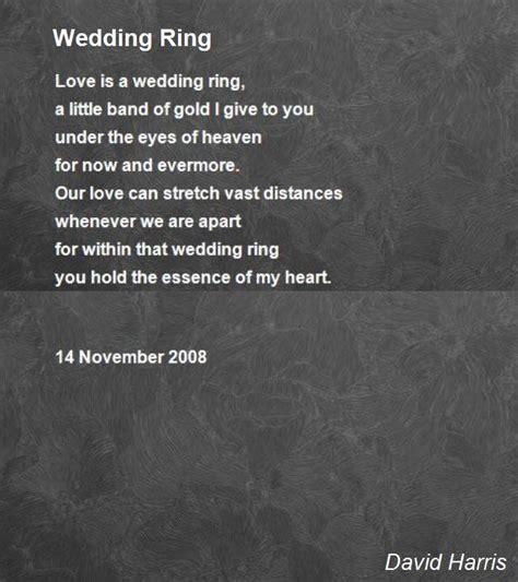 wedding ring poems wedding ring poem by david harris poem hunter comments