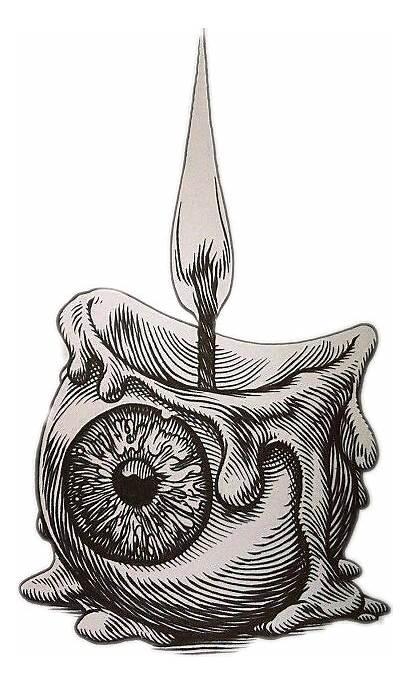 Picsart Creepy Candle Eyeball Tattoo Drawing Drawings