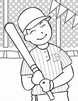 Baseball Coloring Pages Printable sketch template