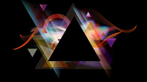 Abstract Black Triangle Background by Abstract Black Background Graphics Multicolor Shapes
