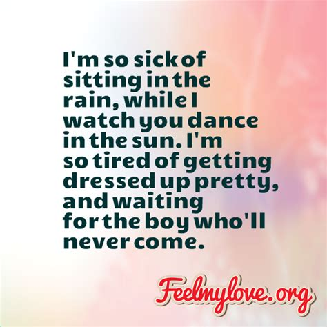 Love Is Never Tired Of Waiting Quotes
