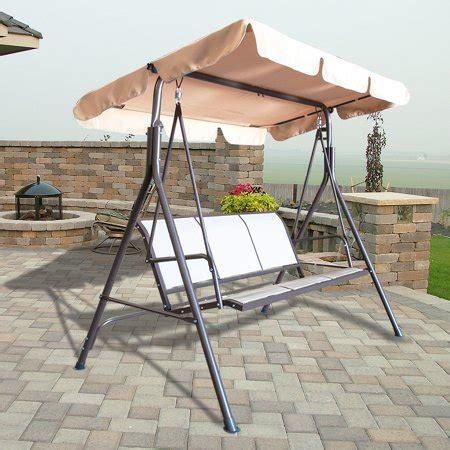 Outdoor 3 Person Canopy Swing Glider Hammock Patio