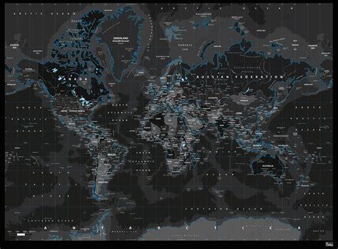 Digital World Wallpaper by Digital World Map Black 812 The World Of Maps