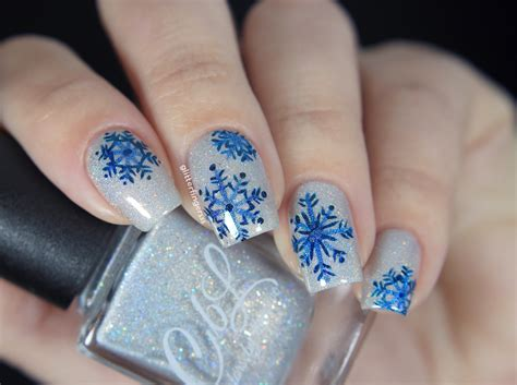 Nail Art Winter : Glitterfingersss In English