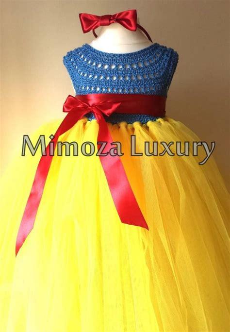 snow white luxury princess dress flower girl dress tutu