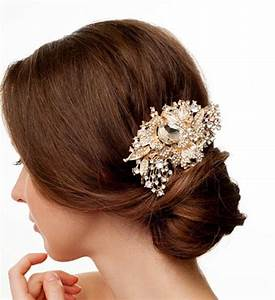 GOLD Vintage Style Bridal Hair Comb Huge Gold Bridal Hair