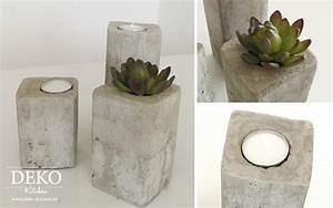 Vasen Aus Beton : diy stylische deko kerzenleuchter aus beton deko kitchen ~ Sanjose-hotels-ca.com Haus und Dekorationen