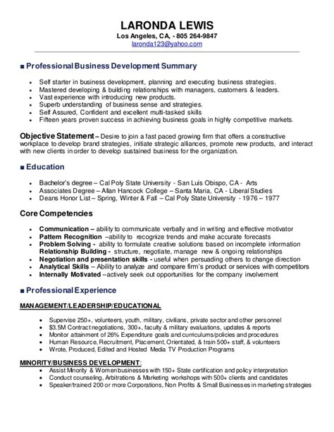Professional Development On Resume by Laronda Resume Business Development 2015
