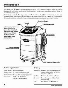 Robinair Spx 75700 Coolant Exchanger Owners Manual