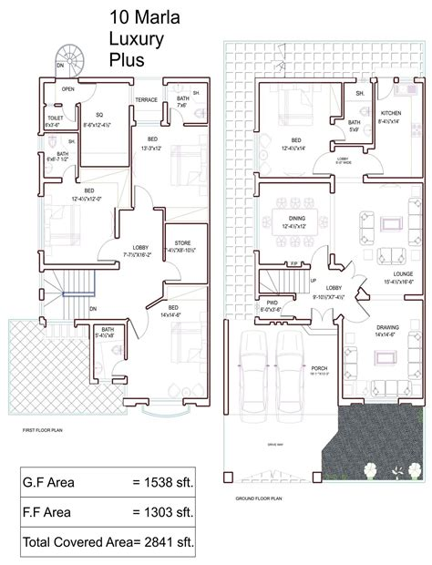 house plan drawings 10 marla house plans civil engineers pk