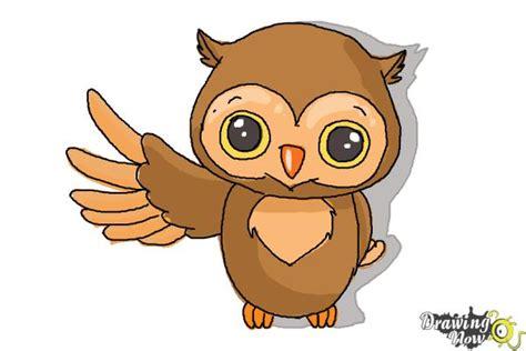 draw  cute owl drawingnow