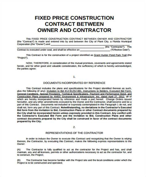 sample contract agreement forms   ms word