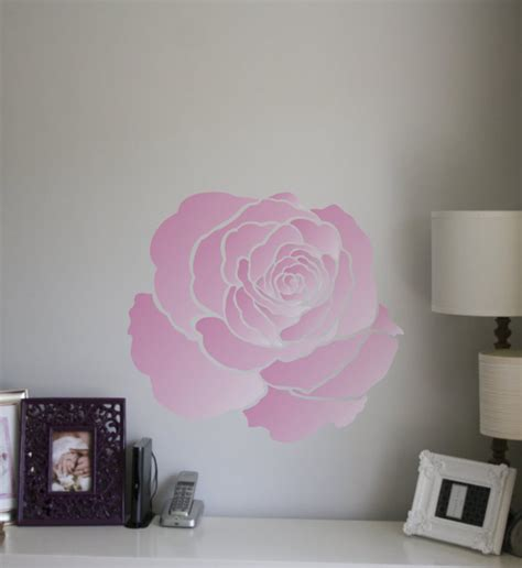painting stencil large rose flower stencil walls