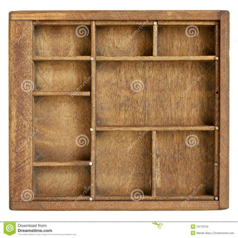 small wood box  dividers stock images image