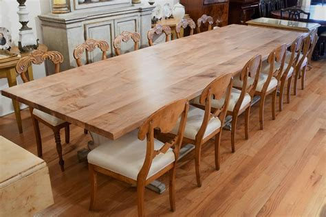 12 Long Gustavian Dining Table With Painted Trestle Base
