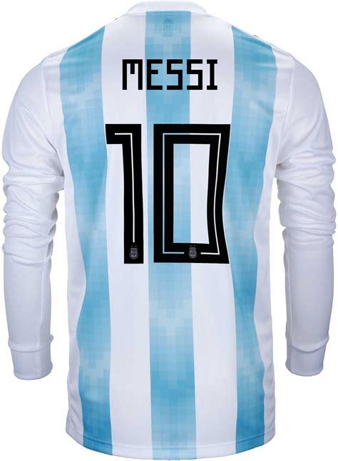 Adidas Lionel Messi Argentina Ls Home Jersey 2018 19