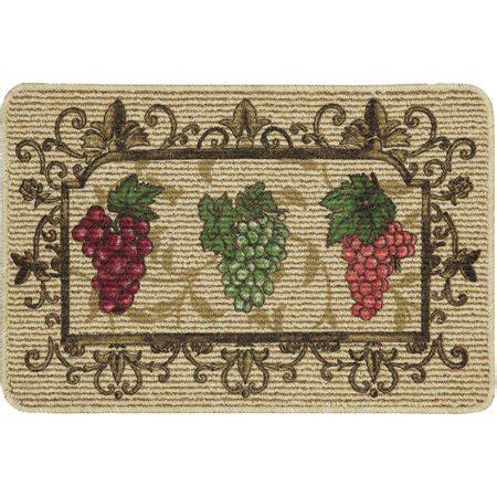 kitchen rugs walmart mainstays nature trends grape bunches printed kitchen mat