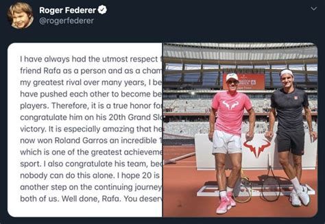 Roger Federer sends classy Rafael Nadal message as French ...