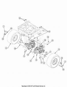 Mtd 17ak2acp897 Rzt50  2010  Parts Diagram For Rear Drive