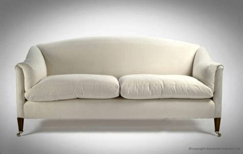 Rounded Back Sofa by Alexanders Dorchester Curved Back Handmade Sofa