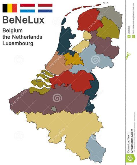 Sind Benelux Staaten by Die Benelux Staaten Vektor Abbildung Illustration