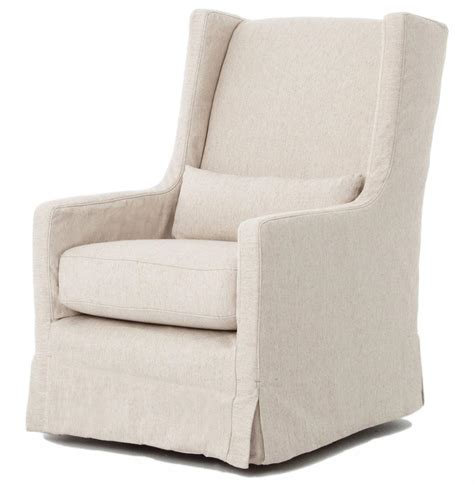 slipcovered chairs wilshire modern slipcover linen swivel arm