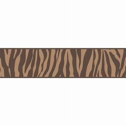 Border Animal Zebra Chocolate Self Adhesive Ceramica