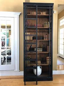 Rustic, Chic, Reclaimed, Wood, And, Iron, Black, Bookcase, With, Ladder, For, Sale, At, 1stdibs