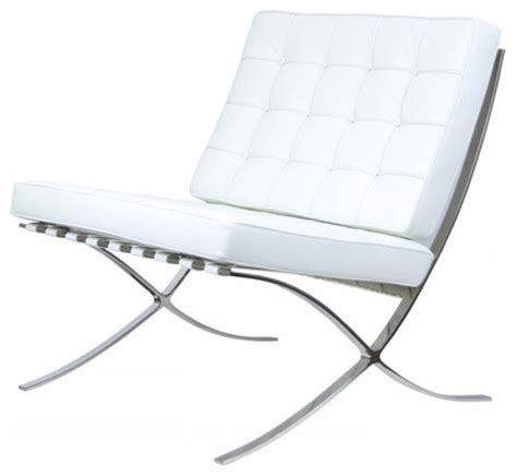 barcelona chair reproduction aniline leather white
