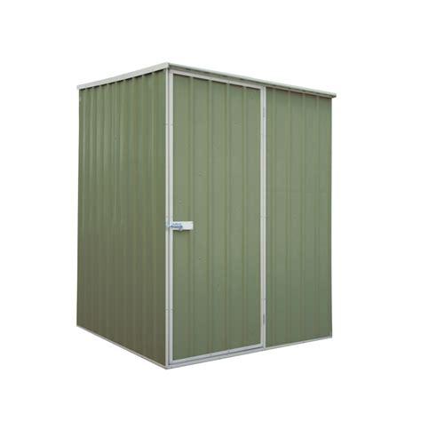 Qiq Fix Sheds by Qiq Fix Garden Shed Metal 1 5x1 5x1 9m Green Bunnings